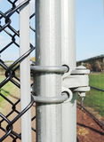 Chainlink fence hardware Royalty Free Stock Photography