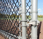 Chainlink fence hardware Stock Photography