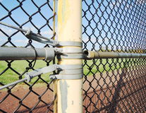 Chainlink fence hardware Royalty Free Stock Photos