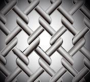 Chainlink fence isolated against on metal. Vector Stock Photo