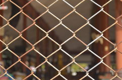 Chainlink fence. Fence made from metal and weave the chainlink Royalty Free Stock Photography