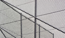 Chainlink fence with snow Stock Image