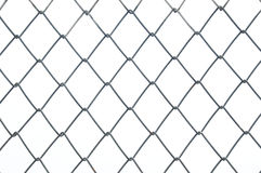 Chainlink metal wire fence Stock Images