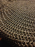 Chainmail Waves. Portion of chainmail made by inox steel rings 6mm Royalty Free Stock Photo