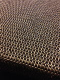 Chainmail weaves. Inox steel 6mm Stock Photo