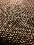 Chainmail weaves. Inox steel 6mm Stock Images