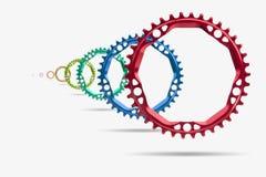 chainring的自行车 免版税库存图片