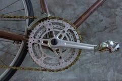 Chainring i łańcuch z frontowym derailleur fotografia royalty free