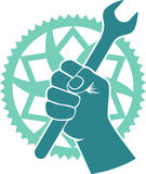 Chainring repair badge Royalty Free Stock Photos