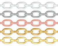Chains. Isolated on white background. Vector illustration stock illustration