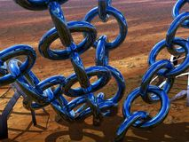 Chains. A 3D bryce rendered picture, a chained world, Anchor point Royalty Free Stock Images