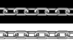 Chains. 3d render of metal chains over black and white background stock illustration