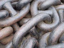 Chains. Old chain from a ship anchor stock photography