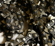 Chains. Grouping of chainsaw chains Stock Photography