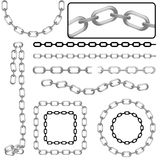 Chains. Set of diferent style chain vector Stock Images