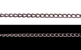 Chains. Isolated on white and black background Stock Photography