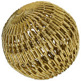 Chains as golden sphere Stock Photo