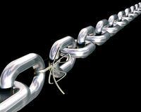 Chains are only as strong as their weakest link. Royalty Free Stock Images