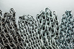Chains. On a black background Royalty Free Stock Image