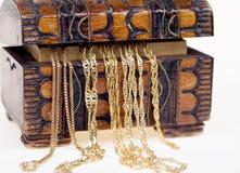 Chains on box Stock Photos