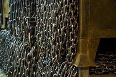 Chains in boxes Royalty Free Stock Photo