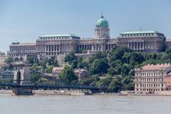 Chains Bridge Buda Castle Budapest Royalty Free Stock Photos