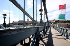 The Chains Bridge in Budapest Stock Photo