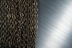 Chains and brushed metal Royalty Free Stock Images