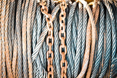 Chains and cables Royalty Free Stock Photography