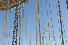 Chains on Carnival Ride stock photography