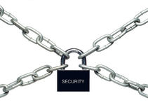 Chains are closed on a lock on Stock Image