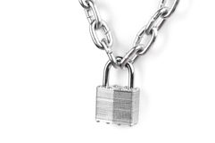 Chains are closed on a lock Stock Photography