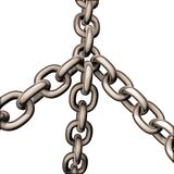 Chains copper Stock Images