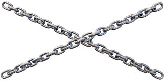 Chains Crossing Close Royalty Free Stock Photo