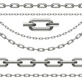 Chains curved, seamless and chain link Stock Images