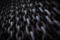 Chains (detail of the Iron Curtain monument in Budapest) Stock Photo