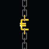 Chains with euro steel vector Stock Images