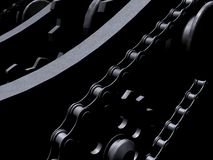 Chains and gears Stock Images