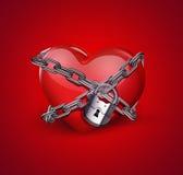 chains heart red Στοκ εικόνα με δικαίωμα ελεύθερης χρήσης