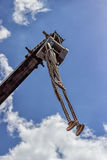 Chains with hooks on heavy truck crane Stock Image