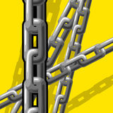 Chains (illustration). Chains (vector or XXL jpeg image Stock Images