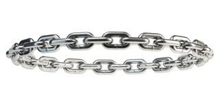 Chains isolated on white background Stock Photos