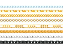 Chains link strength connection vector seamless pattern of metal linked parts and iron equipment protection strong sign. Shiny design background. Industrial stock illustration
