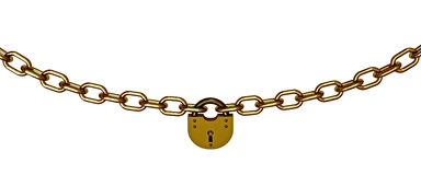 Chains with lock Royalty Free Stock Image