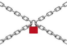 Chains with lock Royalty Free Stock Photo