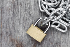 Chains with locked lock Royalty Free Stock Image