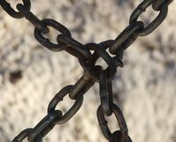 Chains meet Royalty Free Stock Photo