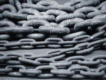 Chains Metal textured close up stock image