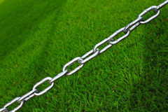 Chains Of The Separator Region Lawn Stock Image