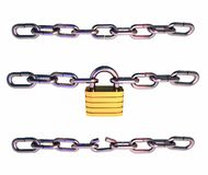 Chains_padlock Stock Photography